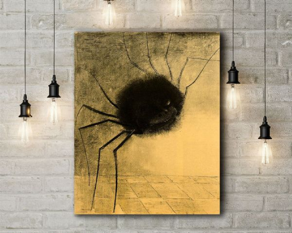 Odilon Redon: The Smiling Spider. Fine Art Canvas.